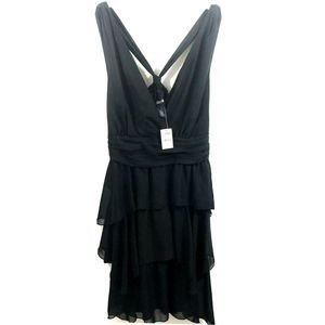NWT Lane Bryant Ruffle Tiered Knotted Back Dress